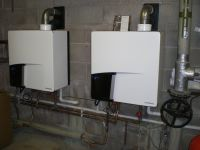 Two central heating boilers